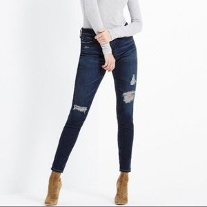 AG The Midi Ankle Distressed Jeans Size 30R